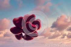 group-heart-shaped-red-air-baloon-dramatic-sky-pink-clouds-valentine-s-day-romance-concept Sky Pink, Pink Clouds, Living Room Decor, Bedroom Decor, Air, Earthy, Heart Shapes, Need To Know, Valentines