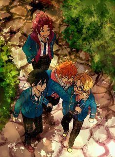 Ensemble stars. Mao, Subaru, Hokuto, Yuki