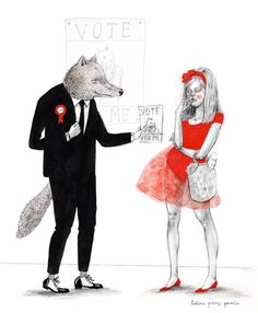 Helena Perez Garcia: Little Red Riding Hood and the Wolf. What's with all the wolf talk