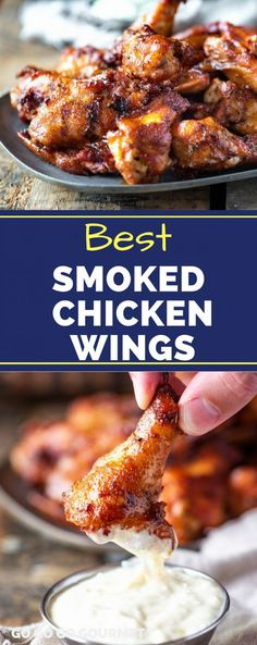 Get your smokers ready, this is the most amazing Smoked Chicken Wings recipe! Wi… Get your smokers ready, this is the most amazing Smoked Chicken Wings recipe! With a perfectly seasoned rub, these crispy wings will be your new favorite! Smoked Chicken Wings Rub, Chicken Wing Seasoning, Chicken Wing Marinade, Smoke Chicken Wings Recipe, Bbq Chicken Wings, Chicken Wing Rub, Bbq Wings, Chicken Breasts, Pellet Grill Recipes