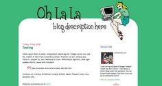 Blogger Candy - Free Blogger + Blogspot templates: Oh La La - free XML blogger template - DIY Header Image