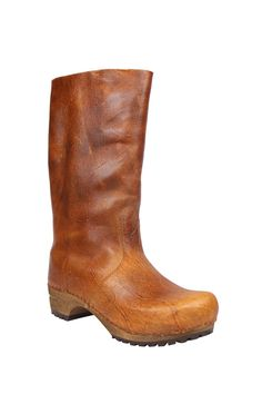 fa6a1f4d0a1b21 Sanita full length clog boot in antique finish pull up leather 452302-15  Clog Boots