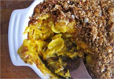 Pumpkin mac and cheese with sage breadcrumbs