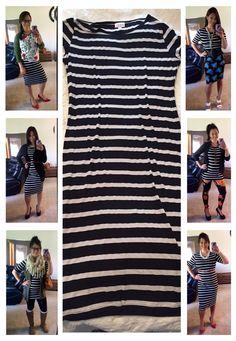 LuLaRoe Julia - One dress many looks. Lularoe Julia Dress, Lularoe Dresses, Lularoe Clothes, Lula Outfits, Fashion Outfits, Fashion Ideas, Look Chic, Style Guides, Style Me