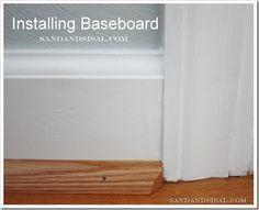Installing Baseboard - how to steps for the beginner DIY-er. ;)