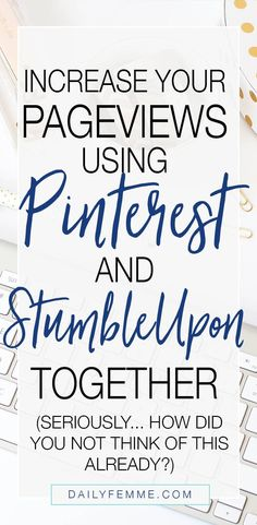 Keeping up with Social Media can be difficult for a blogger. Here's how I save time by using Pinterest and StumbleUpon together to increase my pageviews. Click through to find out the big 'secret'.