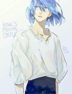 Studio Ghibli Art, Studio Ghibli Movies, Howl Pendragon, Howl And Sophie, Film D'animation, Sad Art, Howls Moving Castle, Hayao Miyazaki, Cute Cartoon Wallpapers