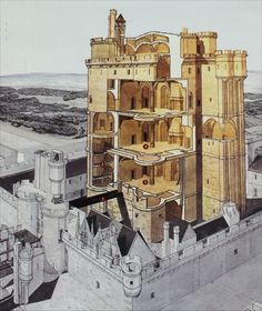 castle construction cut away - Google Search
