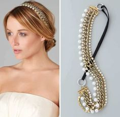 Hair accessories can instantly enhance a simple hairstyle and enhance the look. Here are 10 Tips To Select Hair Accessories For All Occassions Head Jewelry, Cute Jewelry, Jewellery, Diy Headband, Headbands, Chain Headband, Headband Hairstyles, Diy Hairstyles, Diy Hair Accessories