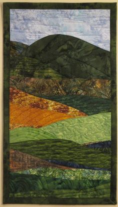 Art Quilt Landscape 5 Wall Hanging by ArtQuiltsBySharon on Etsy