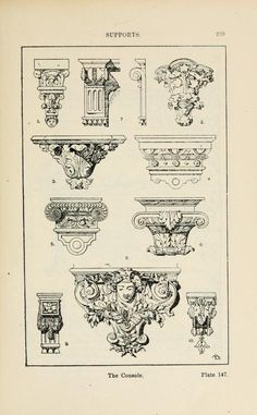 A handbook of ornament Supports The Console  page 239