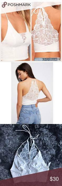 d200c9db3359 Free People Intimately Ivory Century Brami Small New without tag, just  wrinkled from storage.