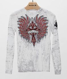Boys - Affliction Chromatic Rust Thermal Shirt at Buckle.com