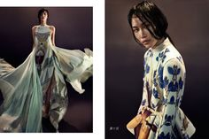 Natalia Grzybowski designs modelled by Katerina Chang (by Mikael Wardhana in Hymn to the Immortal Wind for Fashion Gone Rogue)