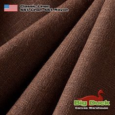 Wholesale Distributors of Dark Brown Linen Fabric for Upholstery and Drapery Home Decor Linen Blend in Espresso Big Duck, Linen Upholstery Fabric, Slipcovers, Light Colors, Espresso, Duvet Covers, Canvas, Classic, Usa