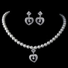 Necklace Length - Drop - Extender - Earrings - x Kids Jewelry, Jewelry Sets, Ivory Pearl, Heart For Kids, Sterling Silver Bracelets, Necklace Lengths, Wedding Accessories, Jewelry Stores, Wedding Jewelry