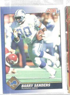 Barry Sanders Detroit Lions #20 Score 1991 Football Card Vintage #DetroitLions