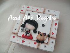 Azul Añil Regalos Decoupage, Jumping Clay, Play Clay, Clay Figurine, Cute Clay, Pasta Flexible, Clay Charms, Cold Porcelain, Halloween Treats