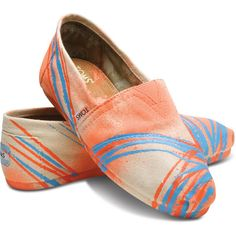 TOMS Tyler Ramsey Natural Neon Women's Classics Size 7.5 ($68) ❤ liked on Polyvore