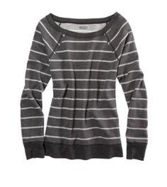 Sparkle Stripe Crew Sweatshirt