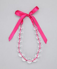 Fun ribbon necklace!