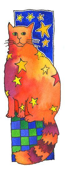 """Star Cat"" by TangerineMeg | Redbubble"