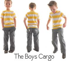 Shwin: The Boys Cargo Pants   This tutorial is a sew-a-long, which I love. I think these are the next pants I'll try for the little men. She drafts a pattern from scratch for these so, it's a good resource for that too.