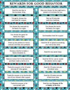 Rewards for Good Behavior (Free Printable) - Moms & Munchkins