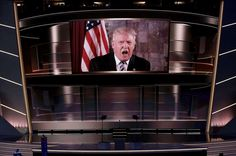 Donald Trump speaks live via satellite from Trump Tower in New York City during the second session a... - REUTERS/Mike Segar