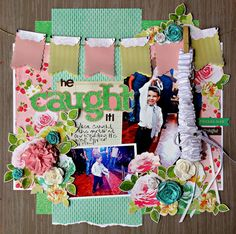 Scrapbooking Wedding Heirlooms using the Pretty Pennants and Noah's ABC Animals cartridges. We love this layout by Jill Cassity! #cricut