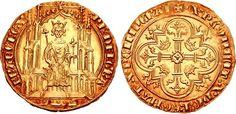 FRANCE, Royal. Philippe VI de Valois (of Valois). 1328-1350. AV Double d'or (34mm, 6.76 g, 2h). Paris mint. Struck 1340.