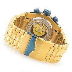 635-159 - Invicta Reserve 52mm Bolt Zeus Swiss Automatic Dubois Depraz Chronograph caseback and bracelet