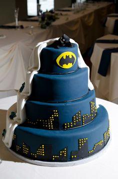 unique Batman surprise wedding cake