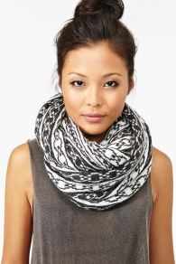 Chained Infinity Scarf! $65.00 at Nasty Gal! This store is a bad ass girl style. There clothes are to die for! Expensive but worthy of! No LIE!
