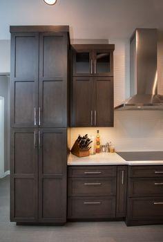 56 Best Dark Brown Kitchens Images In 2019 Cherry Finish Wood