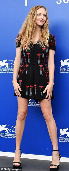 """Pucker up in a Valentino lipstick print playsuit like Amanda Seyfried Click """"Visit"""" to buy #DailyMail"""
