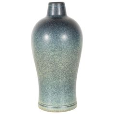 Gorgeous Mid-Century Modernist Vase by Gunnar Nylund for Rörstrand in hues of green and blue.