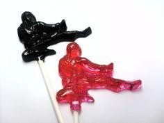 Taekwondo lollipops via Etsy