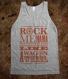 Wagon Wheel Tank Top Western Edition