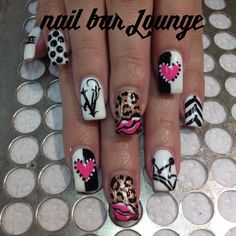 Queen of Hearts #nailart #nails #naildesign