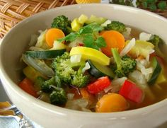 This Weight Watches Veggy Soup is really delicious.  I substitute Chicken Broth for the Veg. Broth, because I don't like the taste of the Veg. Broth.  It just adds 1 point per large bowl.  Super tasty.