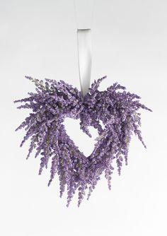 """K & K HOME 8"""" Purple Flower Heart Wreath"""