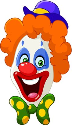 Buy Clown Face by yayayoyo on GraphicRiver. Face of a laughing clown Clown Images, Face Images, Circus Clown, Circus Theme, Clipart, Clown Party, Joker Face, Face Illustration, Send In The Clowns