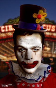 Clowning Around 8 - Worth1000 Contests         Matt Damon