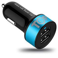 TopG Smart Mini Dual USB Car Charger 5V 3.1Amp 15.5W - 1.0