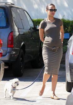Zoe Saldana Photos: Pregnant Zoe Saldana Walks Her Dog Before Lunch