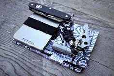 EDC 31 1 15 on Flickr.Macine Era wallet Victorinox black Alox Pioneer QuantumDD, AtwoodGhost Hanks by Hank
