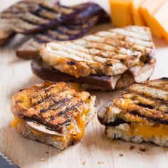 Eggplant Grilled Cheese Sandwich Recipe - Todd Porter and Diane Cu | Food & Wine