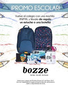 Por la compra de cualquier mochila B te regalamos un estuche o una botella reutilizable! #mochilas #colegio2017 #animaluk.