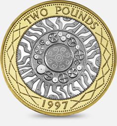 History of Technological Achievement £2 coin 1997 - 2012 http://www.royalmint.com/en/discover/uk-coins/coin-design-and-specifications/two-pound-coin/1997-technological-achievement